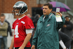 Bill Lazor balances home life and work life as new quarterbacks coach for Philadelphia Eagles.