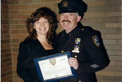 Brendan and his wife, Patty, at his promotion to Detective 2nd Grade.