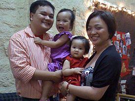 Xavier and Dester Padilla with their two children.